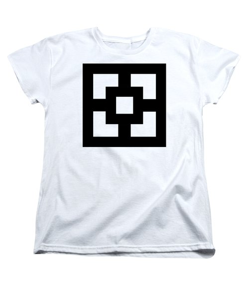 Women's T-Shirt (Standard Cut) featuring the digital art Squares - Chuck Staley by Chuck Staley