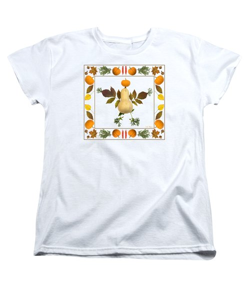 Squash With Pumpkin Head Women's T-Shirt (Standard Cut) by Lise Winne