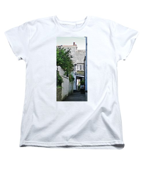 Squeeze-ee-belly Alley Women's T-Shirt (Standard Cut) by Richard Brookes