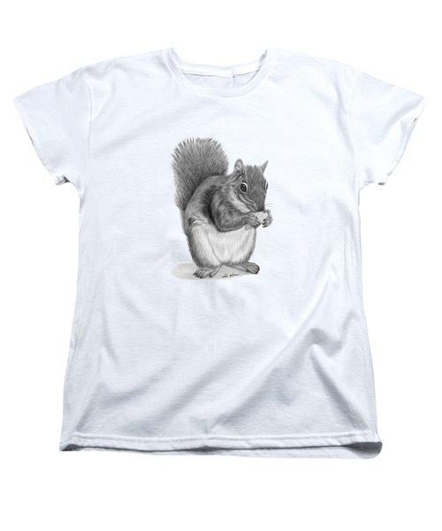 Squirrel #2 Women's T-Shirt (Standard Cut) by Rita Palmer