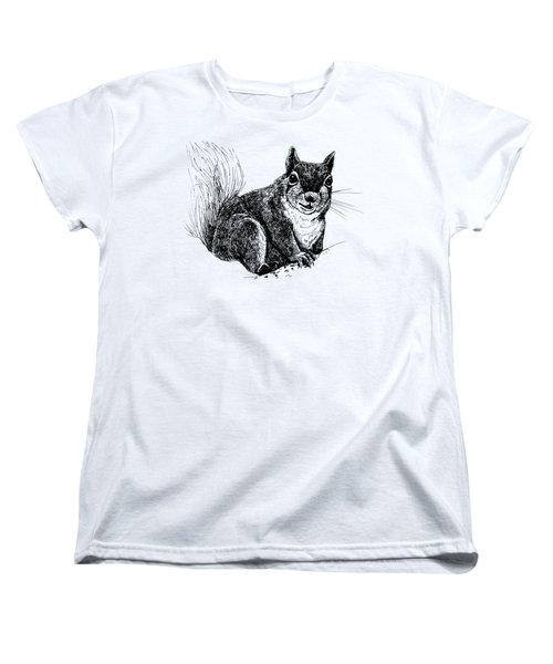 Squirrel Drawing Women's T-Shirt (Standard Cut)