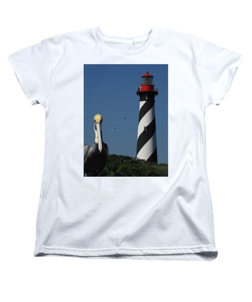St. Augustine Lighthouse Women's T-Shirt (Standard Cut) by Rod Seel