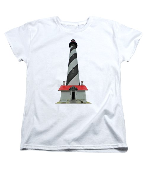 St Augustine Lighthouse Transparent For T Shirts Women's T-Shirt (Standard Cut) by D Hackett