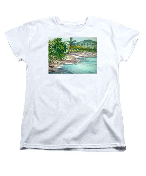 St. Croix Beach Women's T-Shirt (Standard Cut) by Donald Maier