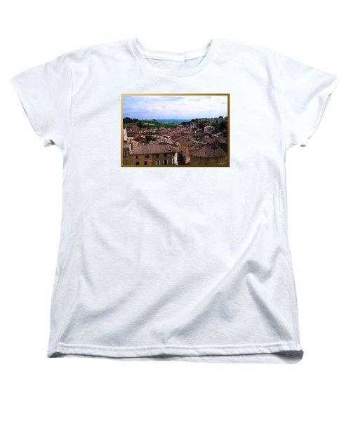 Women's T-Shirt (Standard Cut) featuring the photograph St. Emilion View by Joan  Minchak