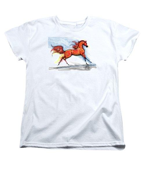Staceys Arabian Horse Women's T-Shirt (Standard Cut) by Stacey Mayer