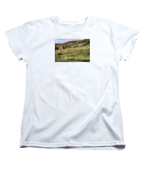 Women's T-Shirt (Standard Cut) featuring the photograph Stacked by R Thomas Berner