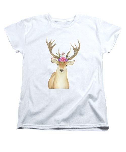Stag Watercolor  Women's T-Shirt (Standard Cut) by Taylan Apukovska