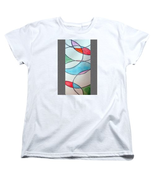 Stain Glass Women's T-Shirt (Standard Cut) by Loretta Nash