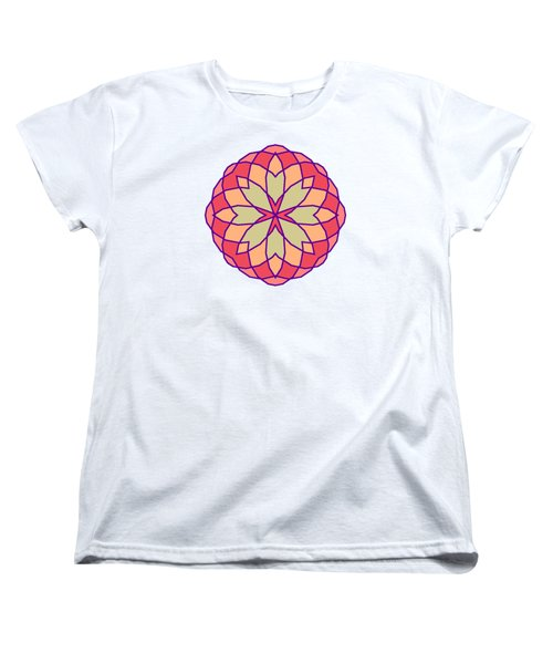 Women's T-Shirt (Standard Cut) featuring the digital art Stained Glass by Methune Hively