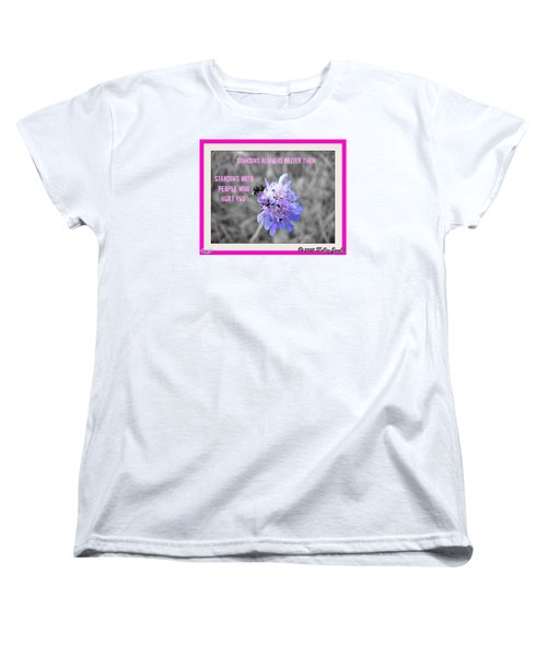 Women's T-Shirt (Standard Cut) featuring the digital art Standing Alone by Holley Jacobs