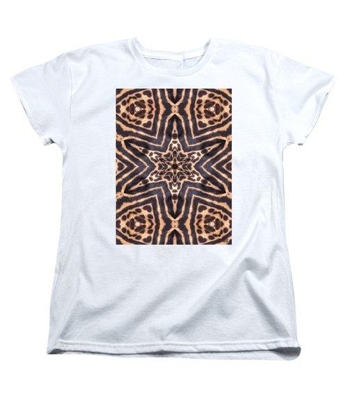 Star Of Cheetah Women's T-Shirt (Standard Cut) by Maria Watt