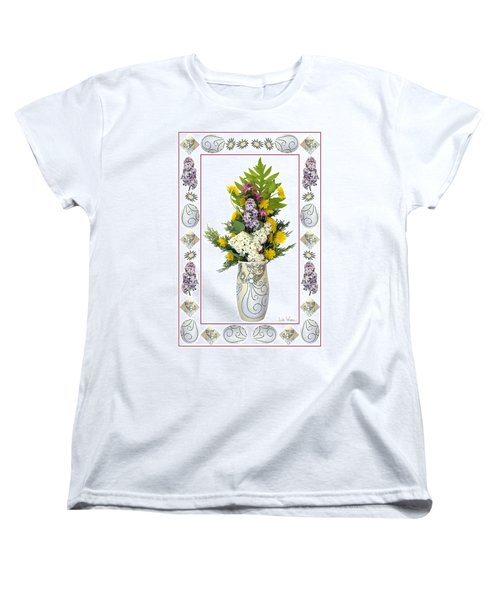 Star Vase With A Bouquet From Heaven Women's T-Shirt (Standard Cut) by Lise Winne