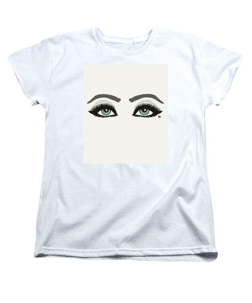Women's T-Shirt (Standard Cut) featuring the painting Starry Eyed by Lisa Weedn