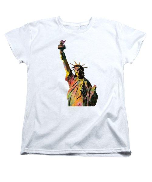 Statue Of Liberty Women's T-Shirt (Standard Cut) by Marlene Watson