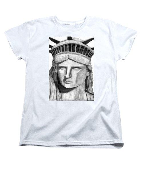 Statue Of Liberty Selfie Women's T-Shirt (Standard Cut) by Terry Cork