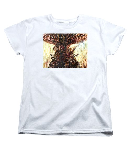 Women's T-Shirt (Standard Cut) featuring the painting Statues On Las Vegas Fountain- Las Vegas, Nevada by Ryan Fox