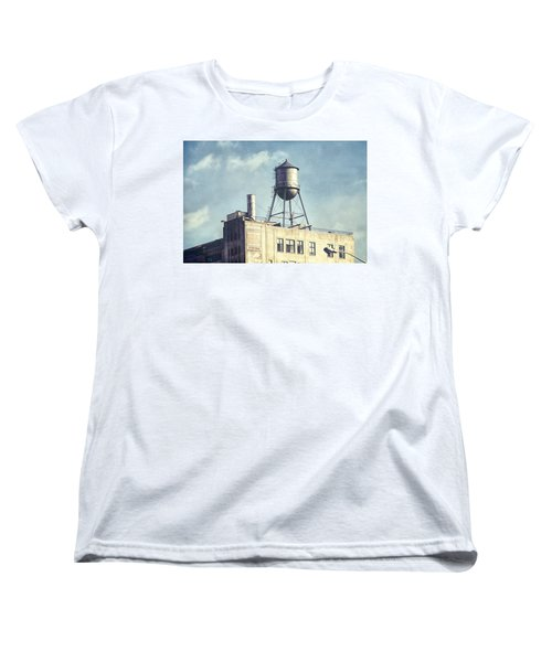 Women's T-Shirt (Standard Cut) featuring the photograph Steel Water Tower, Brooklyn New York by Gary Heller