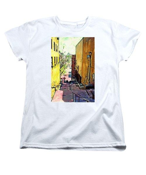 Steps At 187 Street Women's T-Shirt (Standard Cut) by Sarah Loft
