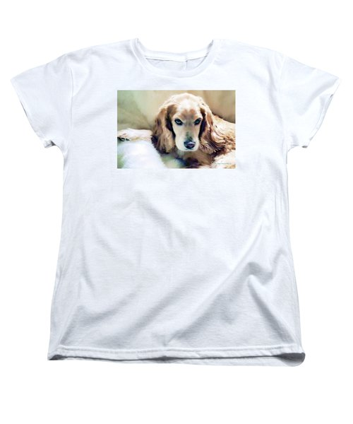 Women's T-Shirt (Standard Cut) featuring the photograph Stevey And His Fur by Polly Peacock