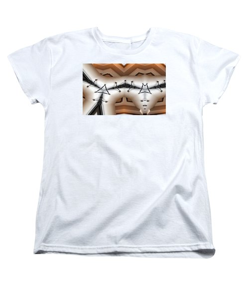 Women's T-Shirt (Standard Cut) featuring the digital art Stitched 1 by Ron Bissett