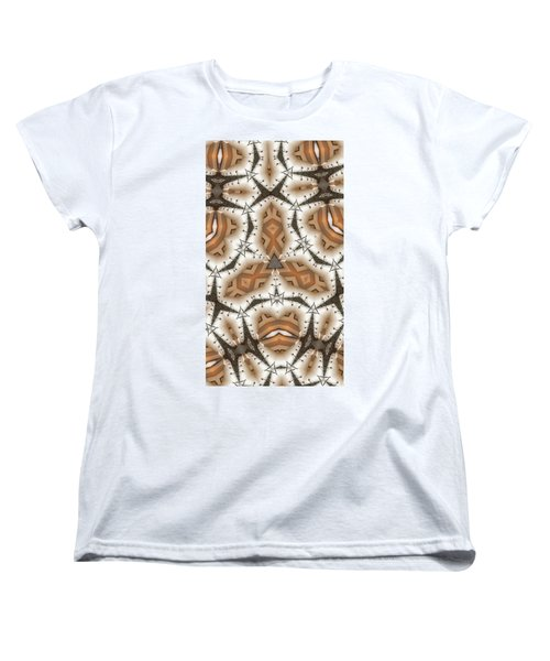 Women's T-Shirt (Standard Cut) featuring the digital art Stitched 2 by Ron Bissett