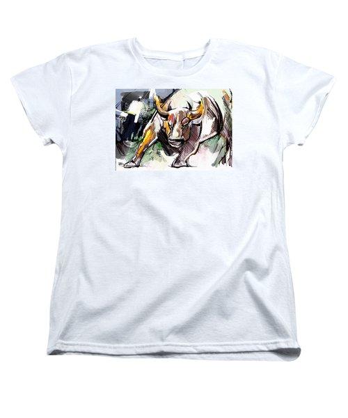 Stock Market Bull Women's T-Shirt (Standard Cut) by John Jr Gholson