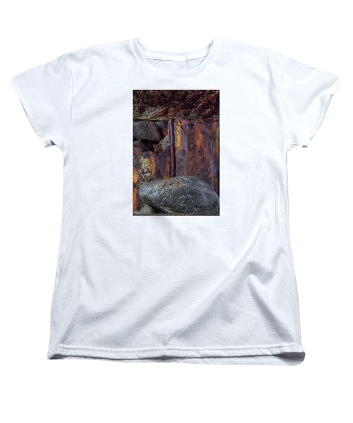 Rusted Stones 2 Women's T-Shirt (Standard Cut) by Steve Siri
