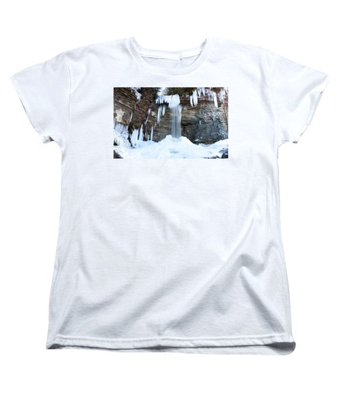 Stony Kill Falls In February #1 Women's T-Shirt (Standard Cut) by Jeff Severson
