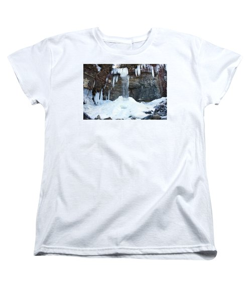 Stony Kill Falls In February #2 Women's T-Shirt (Standard Cut) by Jeff Severson