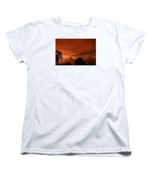 Women's T-Shirt (Standard Cut) featuring the photograph Stormy Sunset by Nikki McInnes
