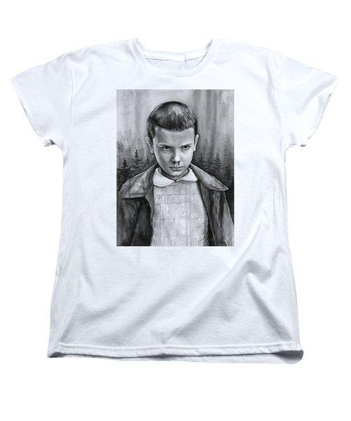 Stranger Things Fan Art Eleven Women's T-Shirt (Standard Fit)