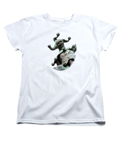 Stratford's Jester Statue On Transparent Background Women's T-Shirt (Standard Cut) by Terri Waters