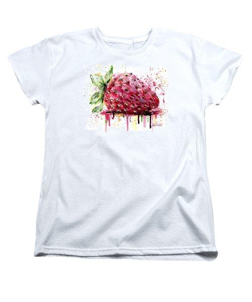 Strawberry 2 Women's T-Shirt (Standard Cut) by Arleana Holtzmann