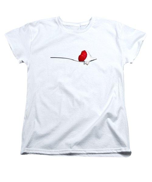 Strawberry And Cream Women's T-Shirt (Standard Cut) by Gert Lavsen