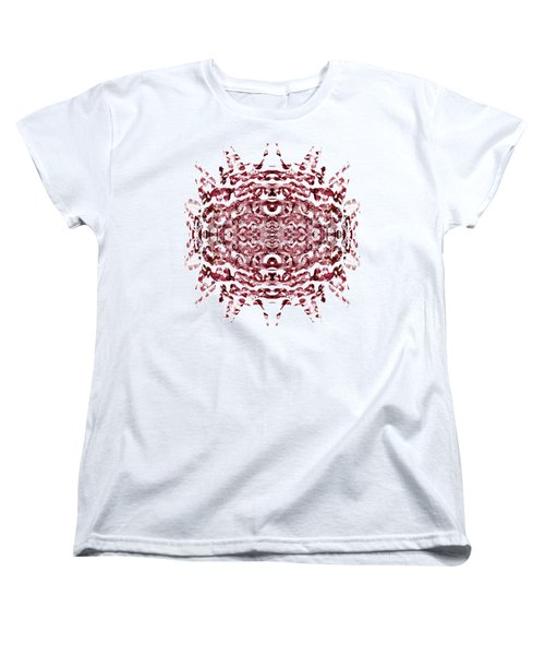 Strawberry Red Abstract Women's T-Shirt (Standard Cut) by Frank Tschakert