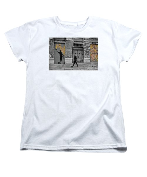 Street Art In Malaga Spain Women's T-Shirt (Standard Cut) by Henry Kowalski