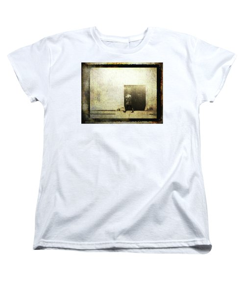 Street Photography - Closed Door Women's T-Shirt (Standard Cut) by Siegfried Ferlin