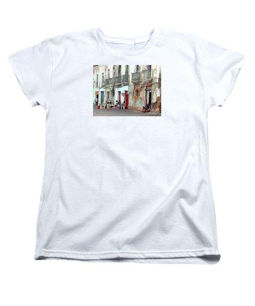 Street Scene Luanda, Angola Women's T-Shirt (Standard Cut) by John Potts
