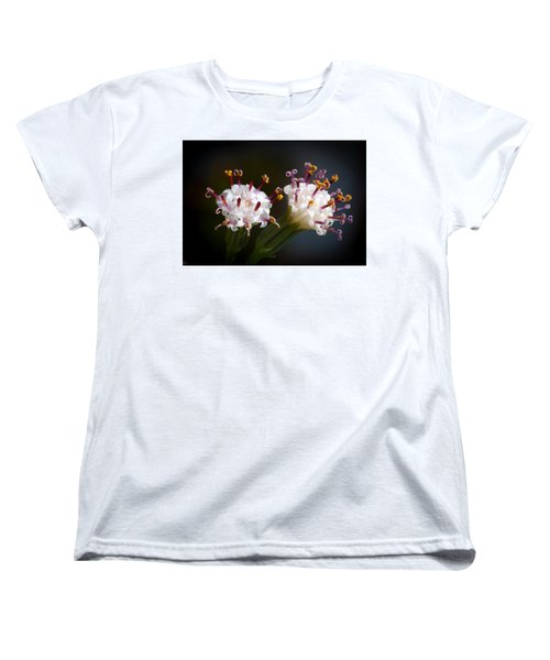 String Of Pearl Succulent Flowers Women's T-Shirt (Standard Cut) by Catherine Lau