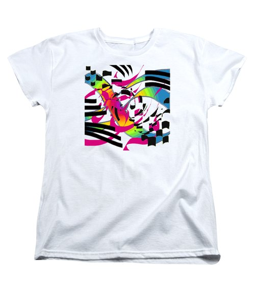 Stripes And Color Women's T-Shirt (Standard Cut) by Adria Trail