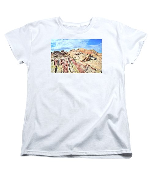 Stripes Of Valley Of Fire Women's T-Shirt (Standard Cut) by Ray Mathis