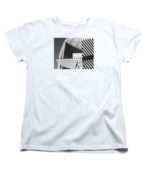 Women's T-Shirt (Standard Cut) featuring the photograph Structure Abstract 3 by Cheryl Del Toro