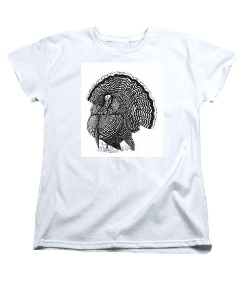 Strutting Gobbler Women's T-Shirt (Standard Cut) by Suzanne McKee