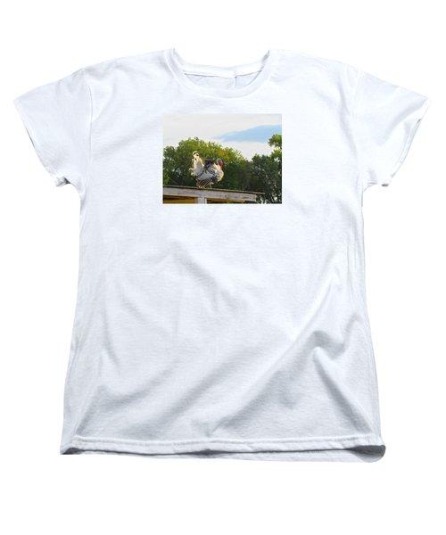 Women's T-Shirt (Standard Cut) featuring the photograph Strutting His Stuff by Brenda Pressnall