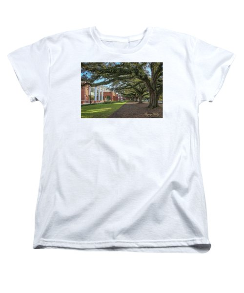 Women's T-Shirt (Standard Cut) featuring the photograph Student Union Oaks by Gregory Daley  PPSA