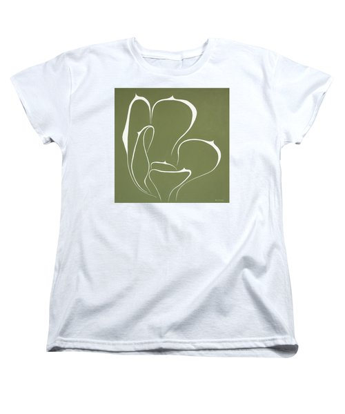 Women's T-Shirt (Standard Cut) featuring the painting Succulent In Green by Ben Gertsberg