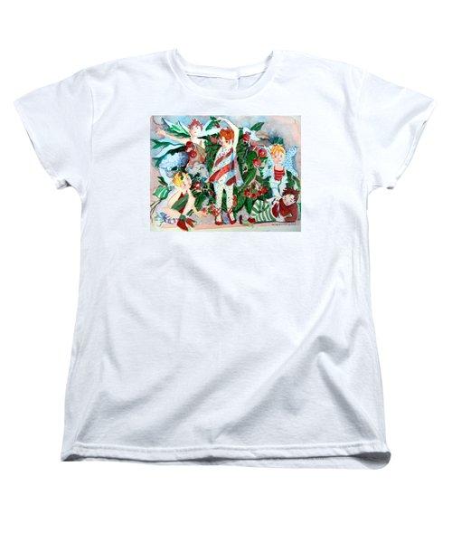 Sugar Plum Fairies Women's T-Shirt (Standard Cut) by Mindy Newman