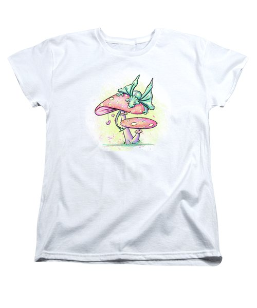 Sugar Puff The Dragon Women's T-Shirt (Standard Cut) by Lizzy Love