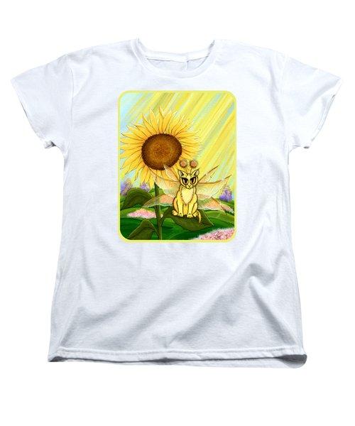 Summer Sunshine Fairy Cat Women's T-Shirt (Standard Cut) by Carrie Hawks